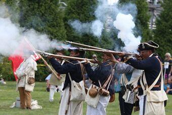美国长岛会战241周年 纽约重现当年场景