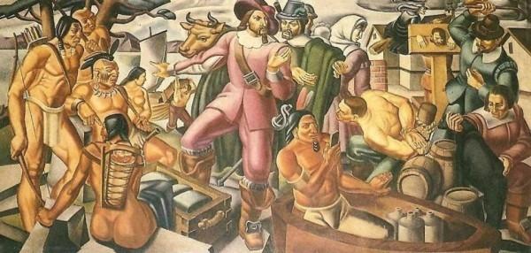 """80年前壁画:惊现美洲土著玩""""手机"""""""