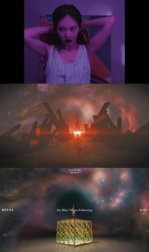 韩歌手泫雅公开《BABE》MV预告 梦幻造型引期待