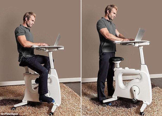 新型嵌入脚踏车式书桌问世 解决现代人健康问题