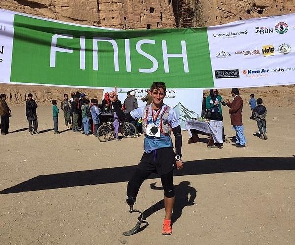 励志!英截肢男子坚持奔跑欲破马拉松世界纪录