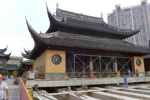 史无前例!上海玉佛寺大雄宝殿将平移30米