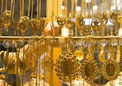 走访加沙黄金市场 珠宝饰品琳琅满目
