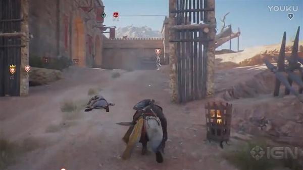 《刺客信条:起源》高等级战斗演示:飞镖瞬秒敌人