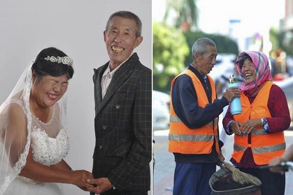 河北黄骅:为环卫工免费拍婚纱照