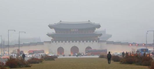 韩媒:因PM2.5中8成细菌一致 称中国细菌飘到韩国