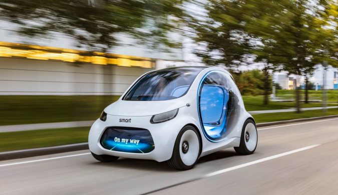 Smart展示Vision EQ Fortwo 自动驾驶电动概念车