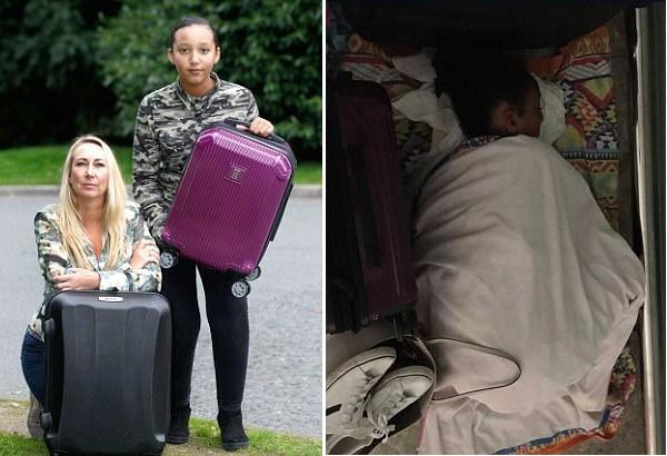 英母女因行李过大禁止登机 被迫睡机场地板过夜