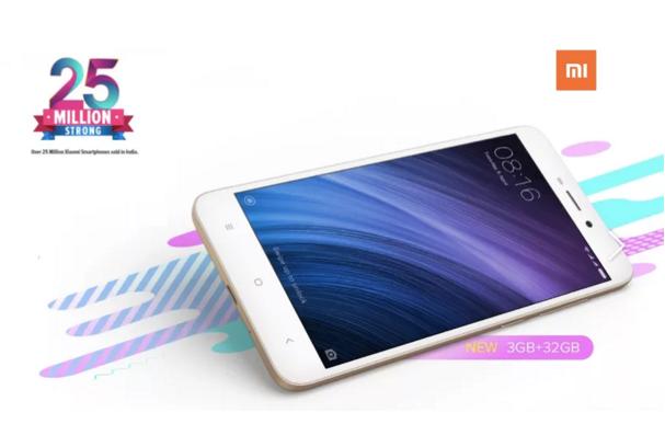 小米印度3年卖出2500万部手机 红米Note 4最畅销