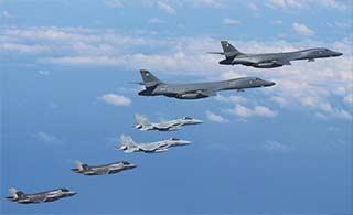 F35B和B1B首次同抵朝鲜半岛
