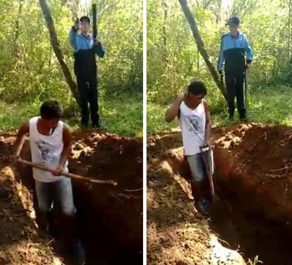 巴西表兄弟被毒贩枪杀前强迫自掘坟墓随后被焚尸