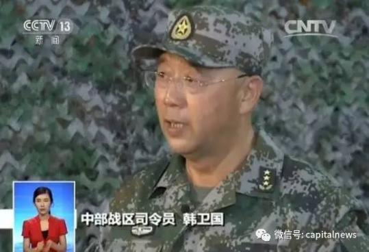 韩卫国上将接任陆军司令员 刚刚指挥朱日和阅兵