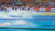 全运会宁泽涛100自半决赛第一比里约游得快