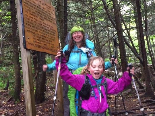 """美母女成功完成439公里""""长径之旅""""徒步挑战"""