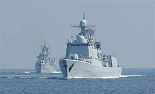 051C老骥伏枥黄海进行实战训练