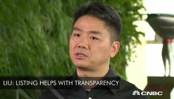刘强东接受CNBC专访称:京东5年内将赶超天猫