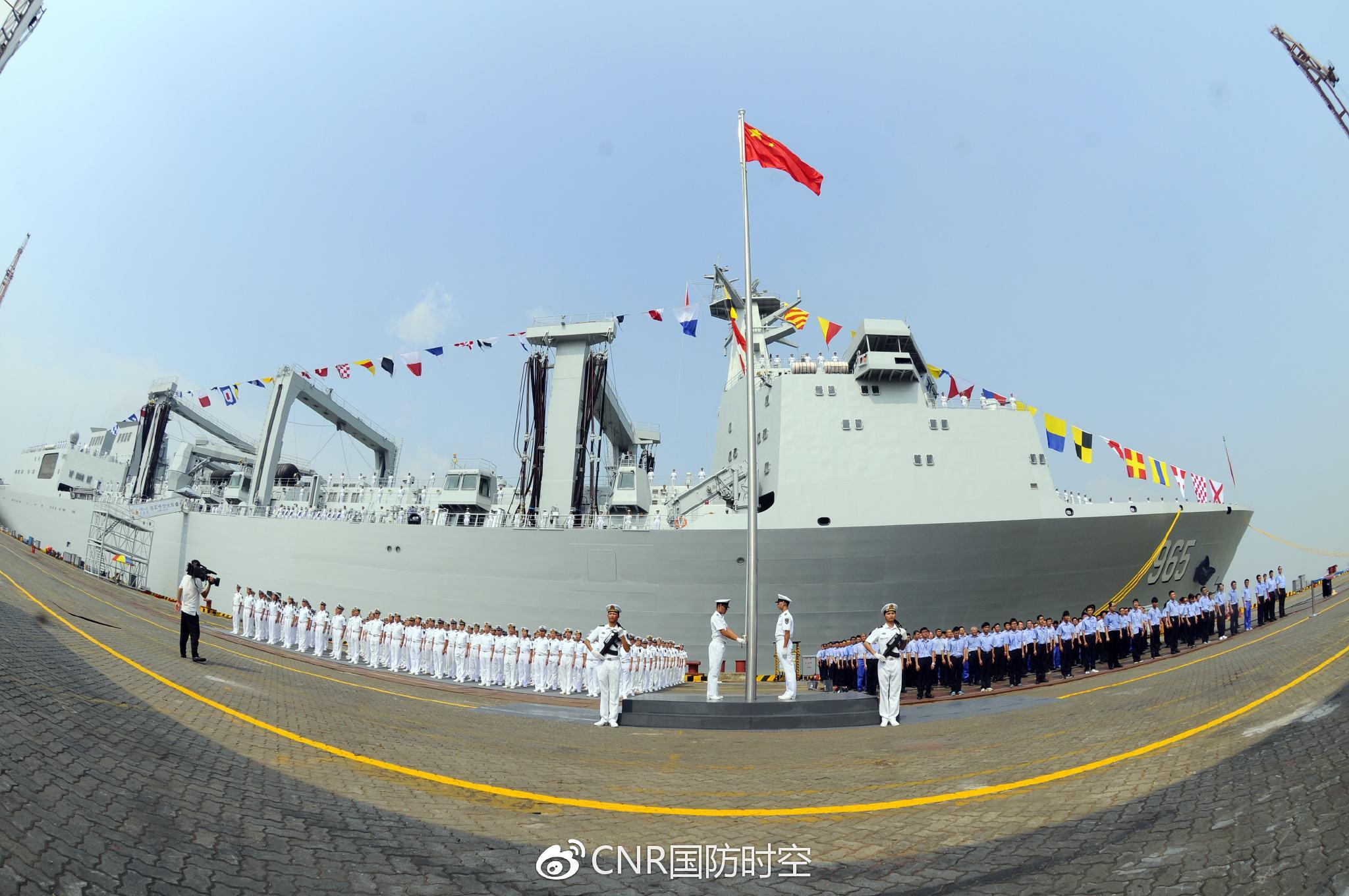 韩媒:中国新型补给舰入列 亚洲最大助航母崛起