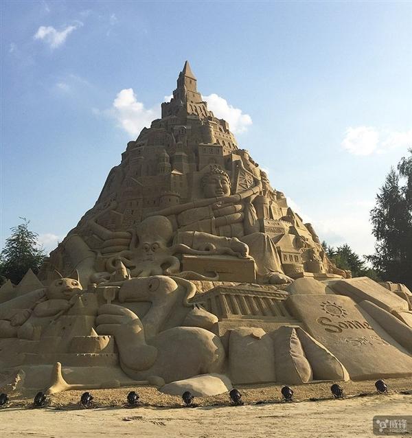 3500多吨沙子打造:世界最高的沙堡 16.68米
