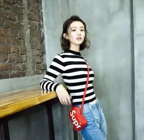 赵丽颖、刘诗诗、江头发宁可撞皮筋,也六个短疏影发型变美女图片