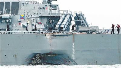 宙斯盾系统致美军连连撞船?或与未升级系统有关