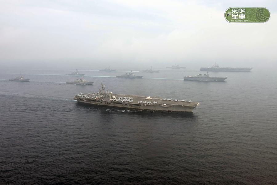 美司令:美或向朝鲜半岛出动2艘航母进行军演