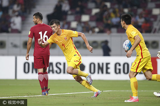 世预赛-没奇迹!武磊破门郑智染红 国足2-1赢球出局