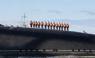世界最大潜艇返港获隆重欢迎