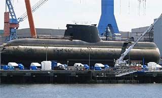 韩国第9艘214型潜艇正式下水