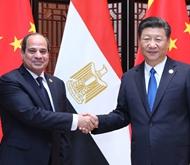 9月5日,习近平在厦门会见埃及总统塞西。