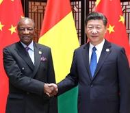 9月5日,习近平会见几内亚总统孔戴。