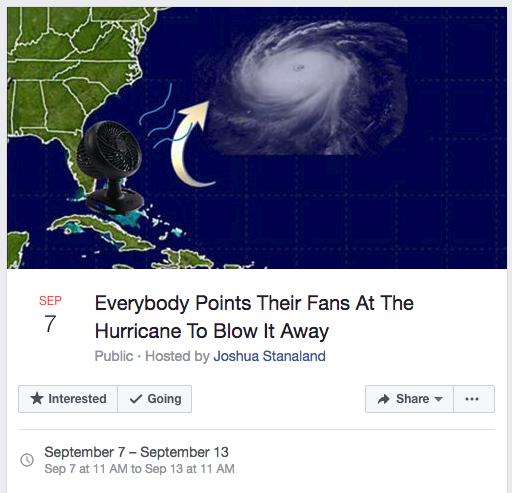 飓风艾玛即将登陆佛州:居民想用电风扇将其吹走