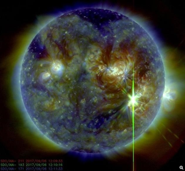 太阳最强耀斑爆发:美国无线电、GPS瘫痪近两小时