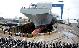 英新航母正式命名威尔士亲王号