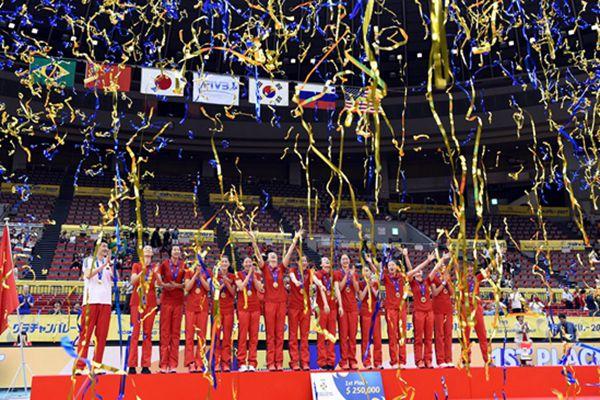 排球——中国女排夺得大冠军杯赛冠军