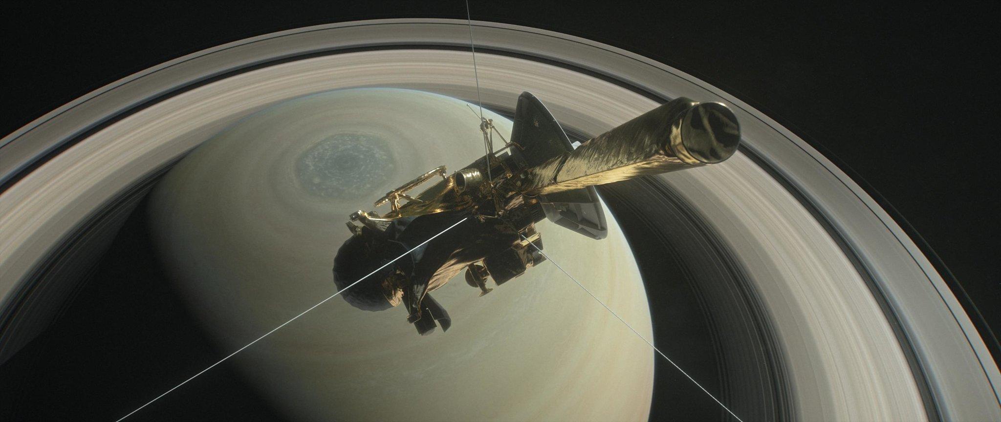 卡西尼探测器即将完成20年探测任务 周五坠入土星