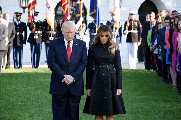 911恐袭16周年 特朗普携妻子为死难者默哀