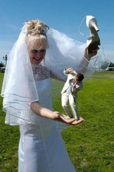 可怕的业余婚纱摄影图片