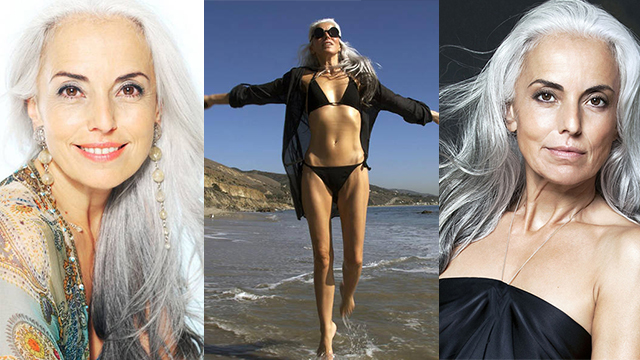 国外最美逆生长,60岁头发都白了,还这么美