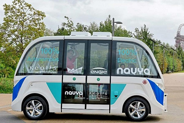 伦敦开测纯电无人驾驶公交车 免费乘坐可载15人