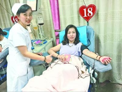 美女老总无偿献血18年 称献血后吃个鸡蛋就可恢复