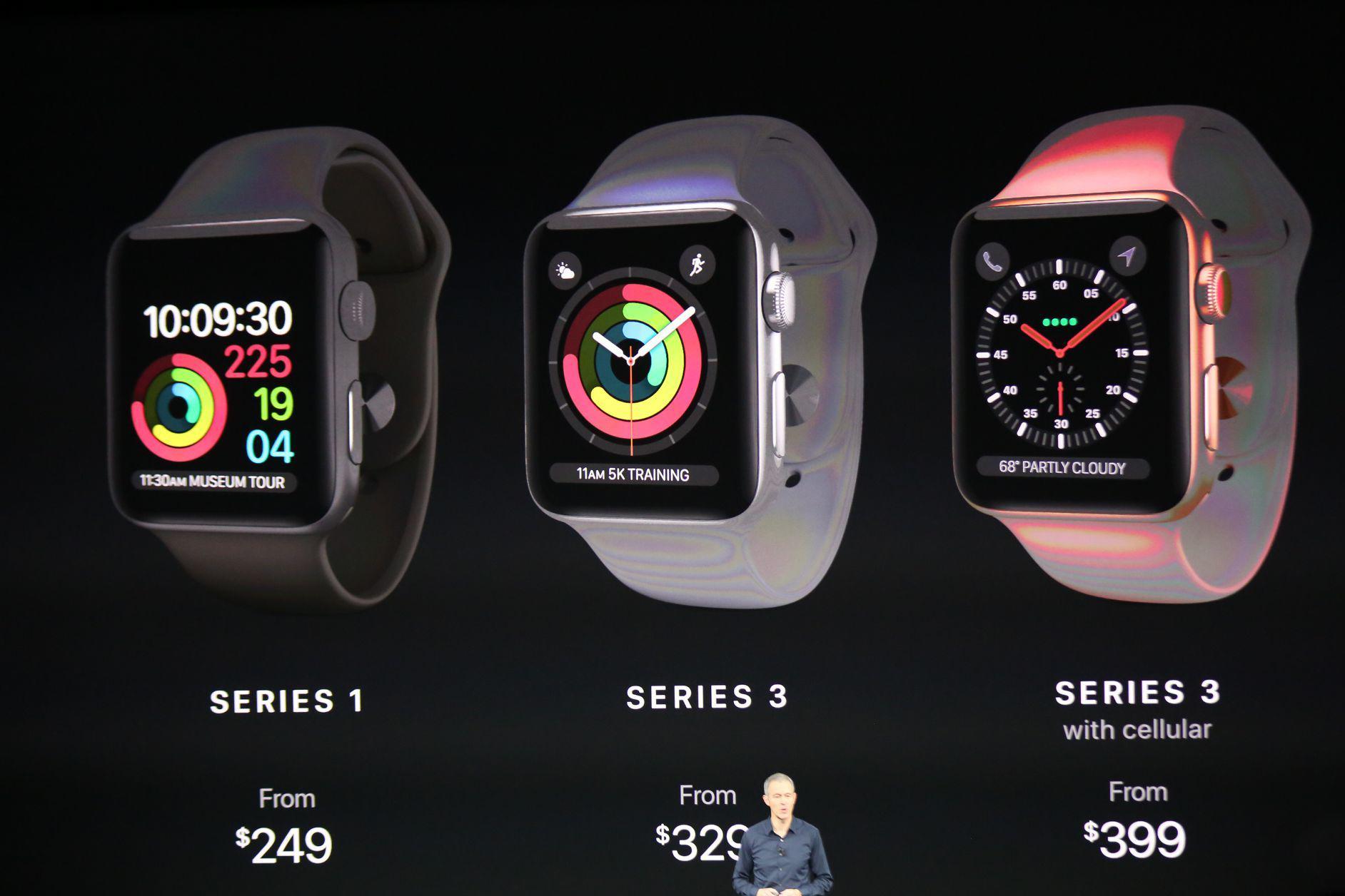苹果发布Apple Watch Series 3 可独立打电话