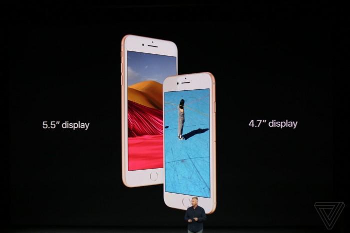 外形不变支持无线充电 苹果发布iPhone 8/8 Plus