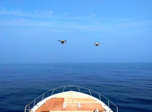 研发油电混合动力系统H2,瑞深航空支持两架多旋翼无人机跨渤海湾飞行