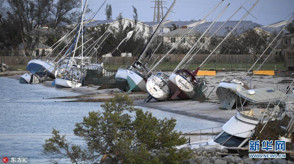 航拍:美国佛罗里达群岛飓风过后景象(组图)