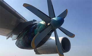 伊尔76运输机测试涡桨发动机