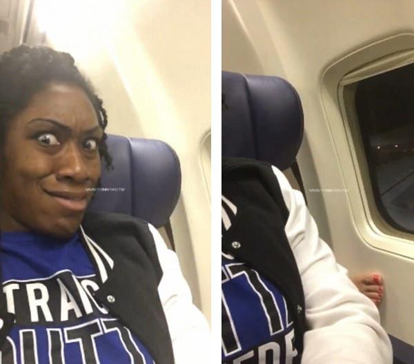 """女子飞机上拍下后排乘客伸""""美脚""""不雅照"""