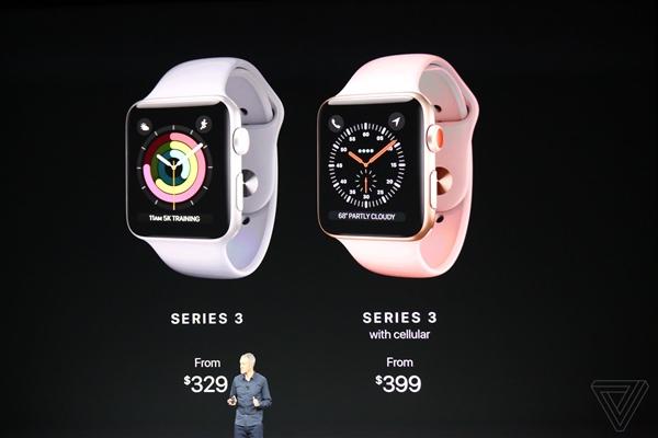 Apple Watch 3代售价公布 LTE版中国首发