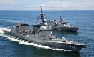 日派军舰和印度进行联合演练