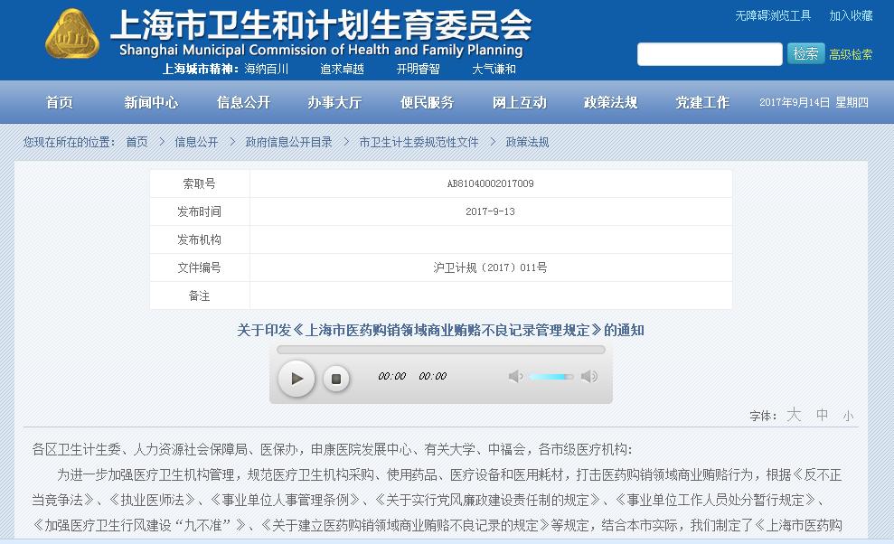 上海颁医药反腐规定!回扣超5000,吊销医生资格