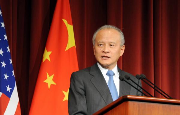 崔天凯:不允许任何人以任何借口把核武引进台湾